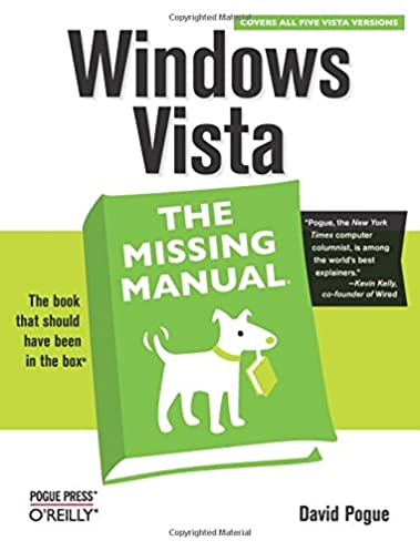 windows vista the missing manual david pogue 9780596528270 rh amazon com manual update windows vista sp2 manual windows vista pdf