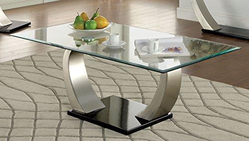 Furniture of America Kassius Modern Coffee Table, Metallic Finish