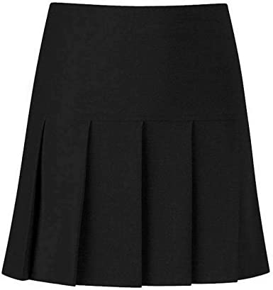 LIFE MODA LTD. Falda de colegio plisada con cremallera lateral ...