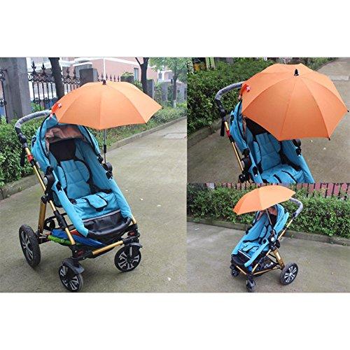 Gosear Parasol para sombrilla bebe carritos Paraguas Accesorios (Color Naranja)