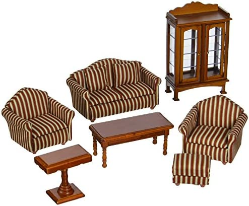 picture of Melissa & Doug Doll-House Furniture- Living Room Set