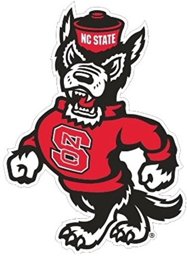 NC State Wolfpack, Premium Die Cut Vinyl Decal, Yeti, Mascot