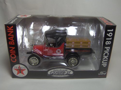 Texaco 1918 Ford Runabout Pickup Truck Coin Bank By Gearbox