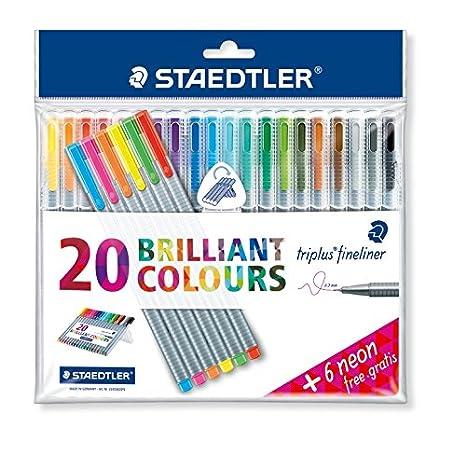 """Triplus Fineliner """"26-Piece Bonus Pack"""" Pens by Staedtler, 0.3mm"""