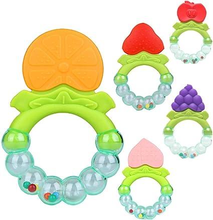 5 unids Bebé Forma de la Fruta Juguetes de Formación Masticar ...