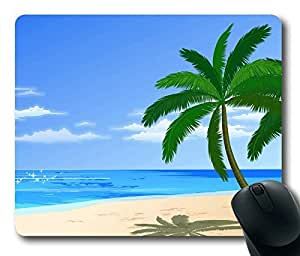 Beautiful Beach Masterpiece Limited Design Oblong Mouse Pad by Cases & Mousepads by icecream design