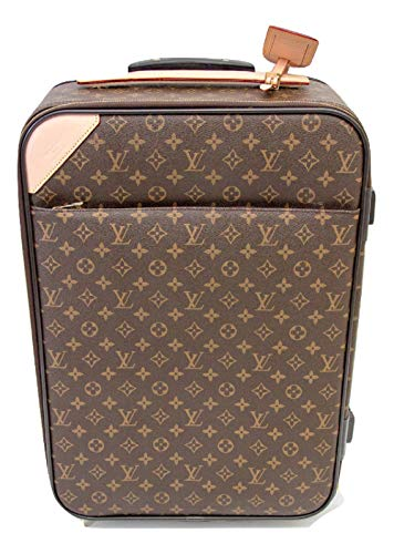 Luggage Vuitton Tag Louis (Pegase Style Monogram 55 Carry On Rolling Suitcase)