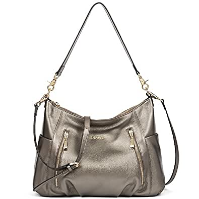 NAWO Women's Leather Hobo Handbags Purse Cross Body Totes Shoulder Top-Handle Bags