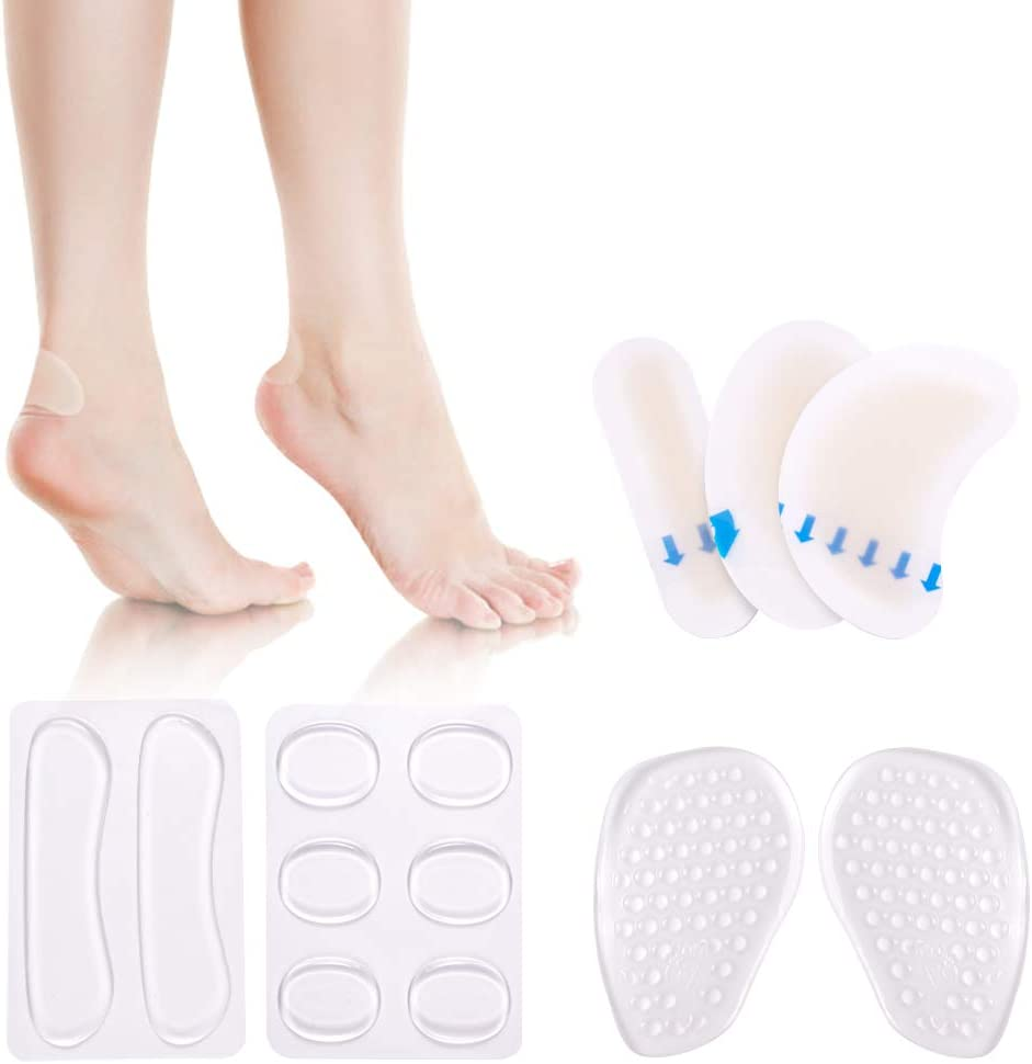 6Pcs Silicone Insoles Insert Anti Slip Gel Pads Forefoot Protector For Heels cb