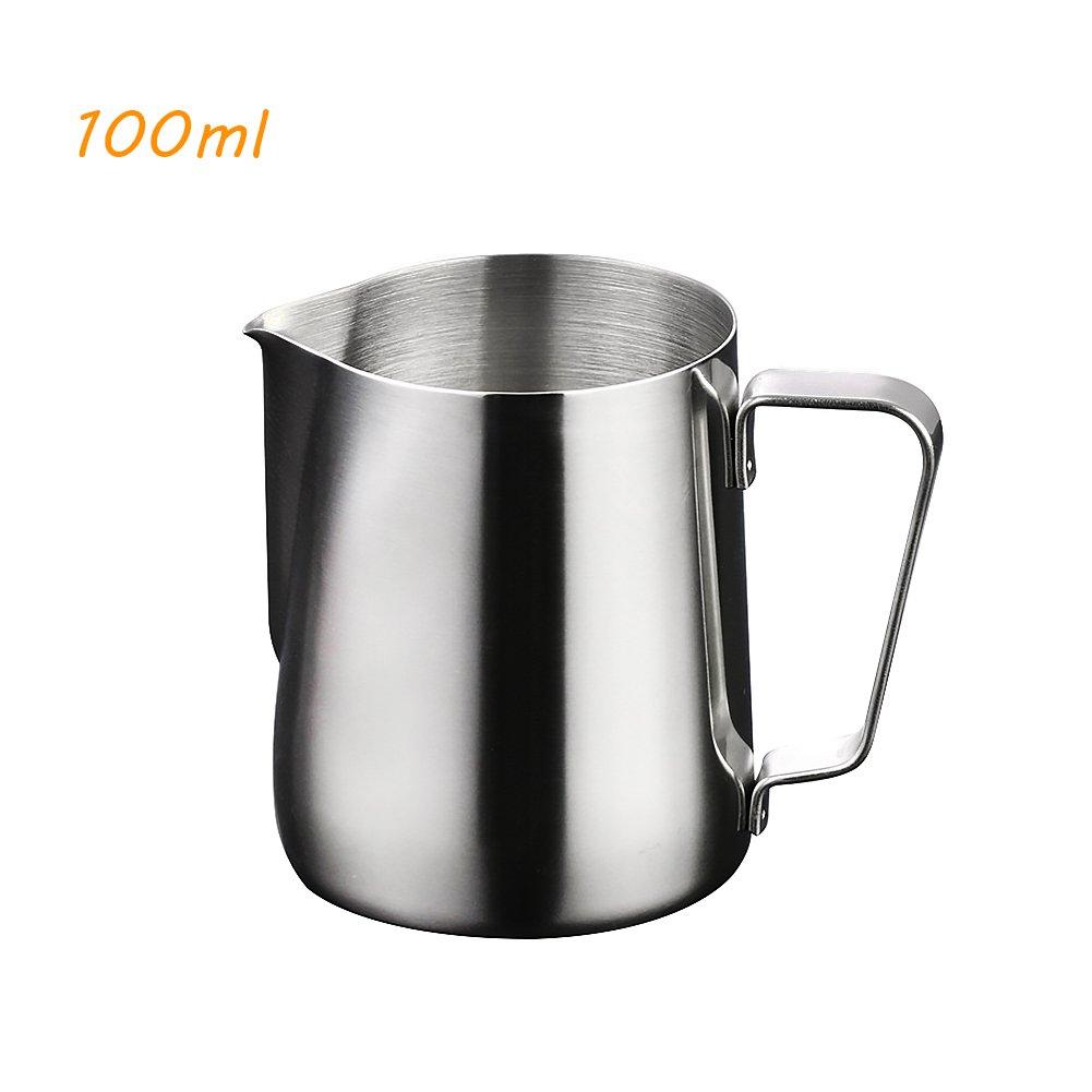 100 ml nikgic Acciaio Inossidabile Bricco per latte Professional Latte schiumoso Brocca per handgemachte Espresso Caff/è Cappuccino macchiato Latte Art