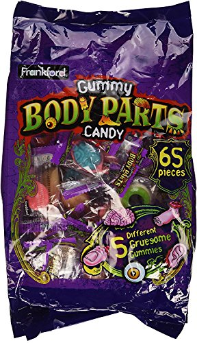 Frankford Gummy Body Parts Candy 65 Pieces Halloween Individually Wrapped