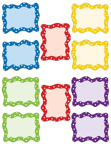 UPC 088231947578, Teacher Created Resources Blank Cards Accents, Polka Dot (4757)