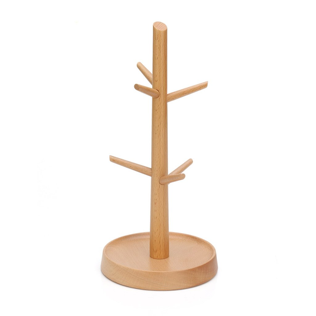 Branch shape modeling cup holder solid wood drain cup holder household coffee cup holder mug storage racks