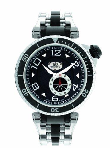 - Gio Monaco Men's 651 Poseidon Black Dial Steel and Black PVD Watch