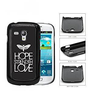 Butterfly Hope Strength Love Eroding Hard Plastic Snap On Cell Phone Case Samsung Galaxy S3 SIII Mini I8200