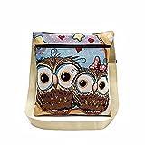 Embroidered Owl Tote Bags, AgrinTol Women Shoulder Bag Handbags Postman Package (P)