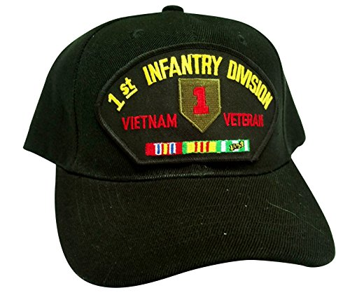 HMC US Army 1st Infantry Division Vietnam Veteran w/Service Ribbons Low Profile Adjustable Ball Cap