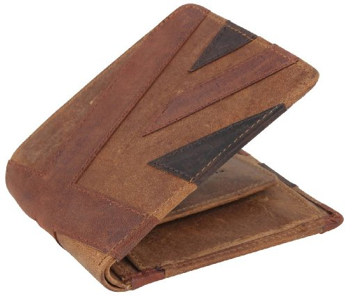 Brown Union Jack - Brown Union Jack Wallet by Mustard