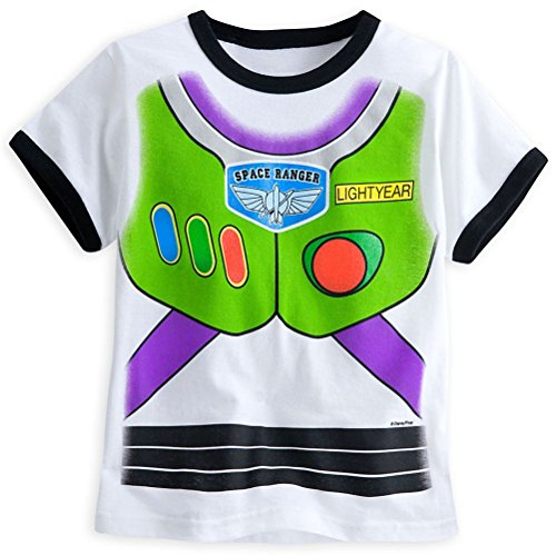 [Disney Store Toy Story Buzz Lightyear Little Boy Short Sleeve Costume T Shirt 5/6] (Buzz Lightyear Shirt Costume)