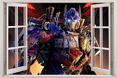 (Optimus Prime Transformers 3D Window Decal Wall Sticker Home Decor Art Mural J02, Huge)