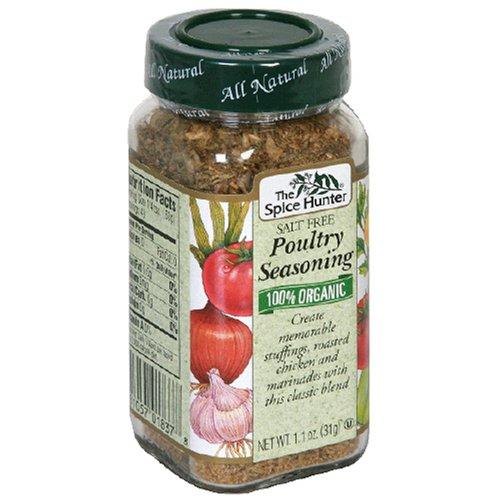 (Spice Hunter Poultry Seasoning, Salt Free 1.1 oz (Pack Of 6))