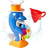 learning tub toys - Baby Bath Toy, Fun Bathtub Dolphin Spout, Bath Water Learning, Educational, Developmental Toy for 6, 7, 8, 9, 10 Months and Up Baby, Toddlers, Kids, Boys, Girls - iPlay, iLearn