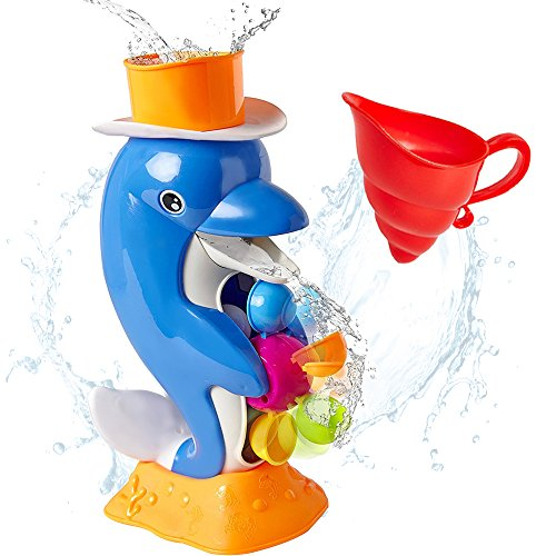 iPlay, iLearn Baby Bath Toy, Shower Bathtub Dolphin Spout, Swimming Pool Water Toy, Interactive Learning Gift for Ages 6, 9, 12, 18 Months Infants, 1, 2, 3 Years Old, Toddlers, Kids, Boys, Girls