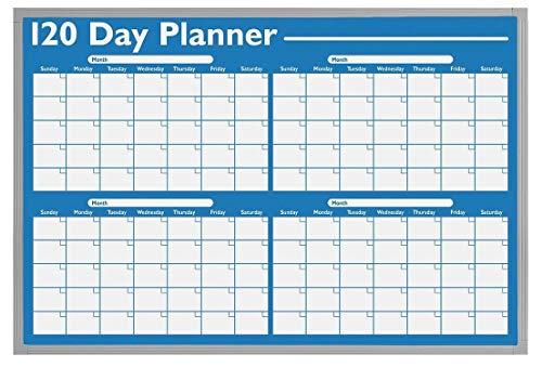 Visual Planning Magna Board - Magna Visual Dry Erase Planning Board, 120 Day, 36