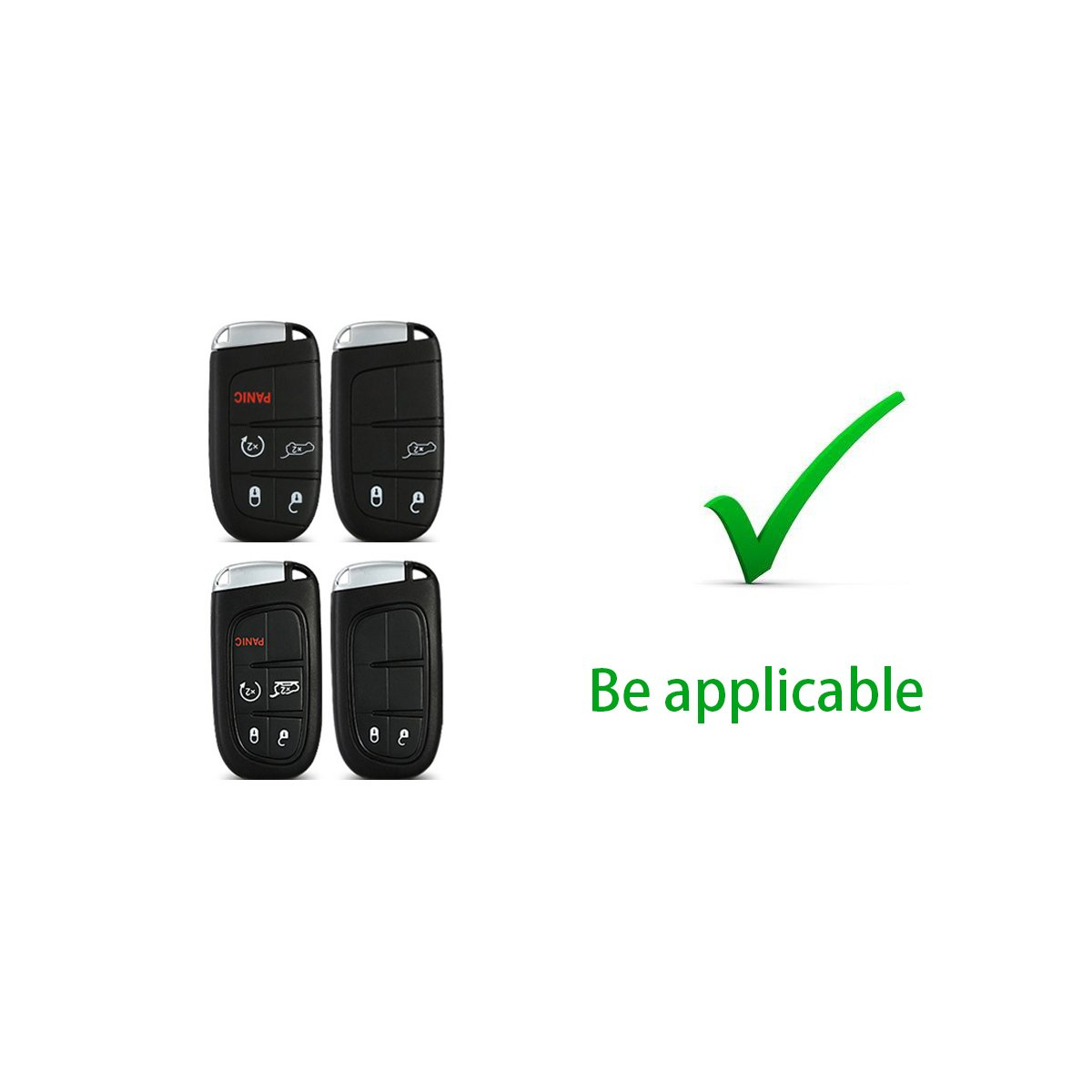MODIPIM Keyless Entry Remote Cover Soft TPU Key Fob Case With Braided Cord Keychain For JEEP Grand Cherokee Wrangler Compass Patriot 2//3//4//5-Buttons Smart Key Color Silver
