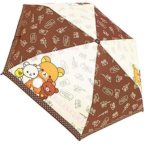 Planificación de la J San-X Rilakkuma plegable paraguas nuevo amigo patrón 53 cm 90223