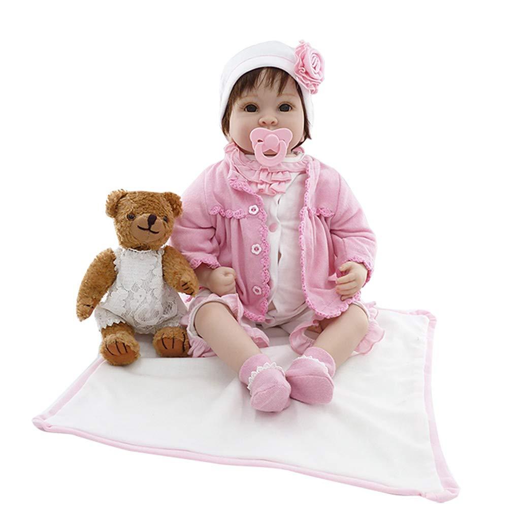 ventas en linea Runrain - Manta de silicona silicona silicona para recién nacido, 56 cm, diseño de oso marrón  los clientes primero