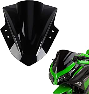 kemimoto Windshield Windscreen Fits Kawasaki Ninja 300 EX300 2013 2014 2015 2016 2017 2018 Black
