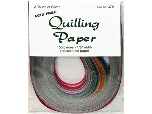 Lake City Quilling Paper Pkg 100pc 1/8 Touch Slvr by Lake City Crafts