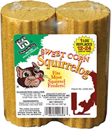 Squirrel Cakes - C&S Sweet Corn Squirrelog Refill Pack, 32-Ounce, 2-Pack