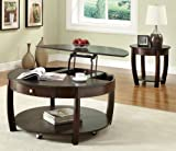 Coaster Home Furnishings Casual Coffee Table, Brown and Cherry Review