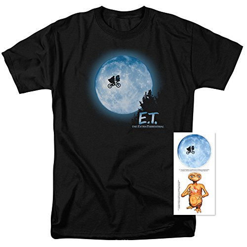 E.T. Flying Bicycle Across The Moon T Shirt & Exclusive Stickers