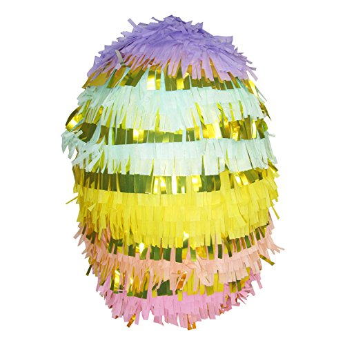 Pinatas Large Rainbow Egg, Party Game, Decoration and Photo Prop for Unicorn Birthdays and Baby Showers, 21