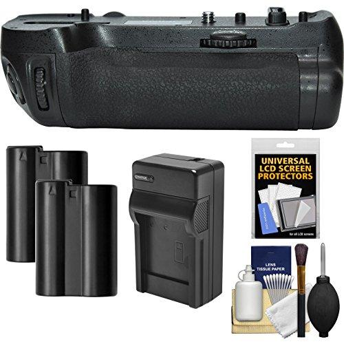 Vivitar MB-D18 Pro Series Multi-Power Battery Grip for Nikon D850 DSLR Camera with (2) EN-EL15 Batteries & Charger + Kit by Vivitar