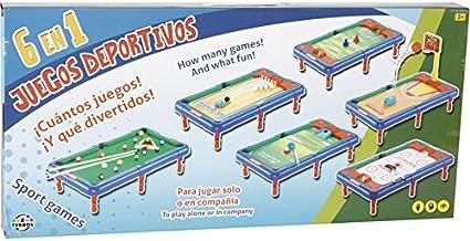 XTURNOS Juegos Deportivos 6 en 1, 50.5x29x12cm: Amazon.es ...