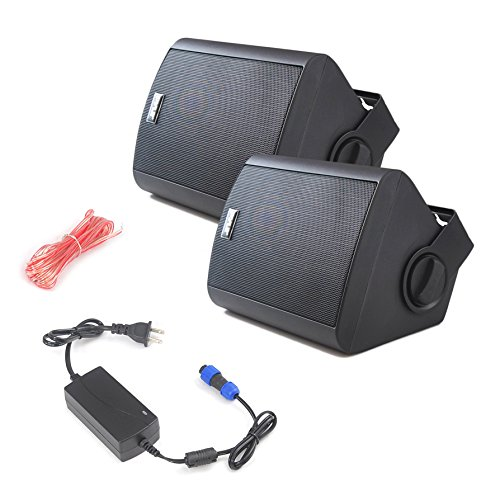 Pyle Pdwr52btbk Wall Mount Waterproof Bluetooth Speakers