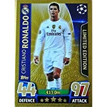 Topps Champions League Match Attax 15/16 Cristiano Ronaldo Gold Limited Edition 2015/2016 Trading Card