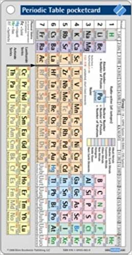 periodic table pocketcard 1st edition