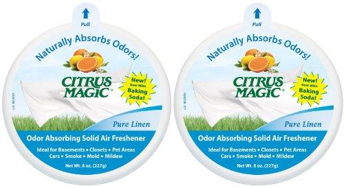 Citrus Magic Air Freshener Solid, Pure Linen, 8 oz-2 pk
