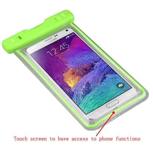 Avarious Waterproof Pouch Bag for Asus Zenfone Go ZB452KG, 4.5-inch, Apple Green
