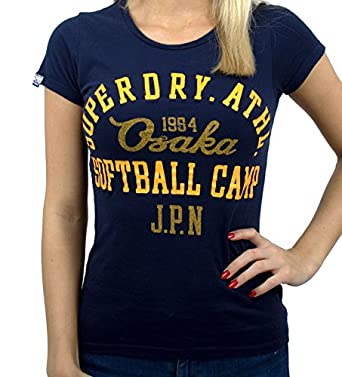 Superdry Womens Soft Ball Rocky State Entry Tee Supermarine Navy