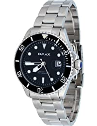 Omax #CS402 Men's Stainless Steel Black Dial 50M Pro Dive Style Sports Watch