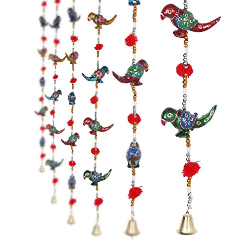 Jaipuri haat Handcrafted Parrot Door Hanging Home /Wall Décor- 1 Pair (Parrot Decorations)