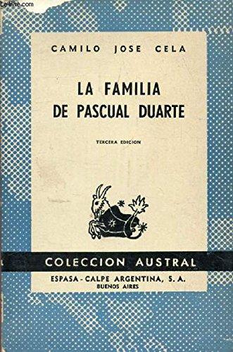 LA FAMILIA DE PASCUAL DUARTE Coleccion Austral, n° 1252: Amazon.es: CELA Camilo José: Libros