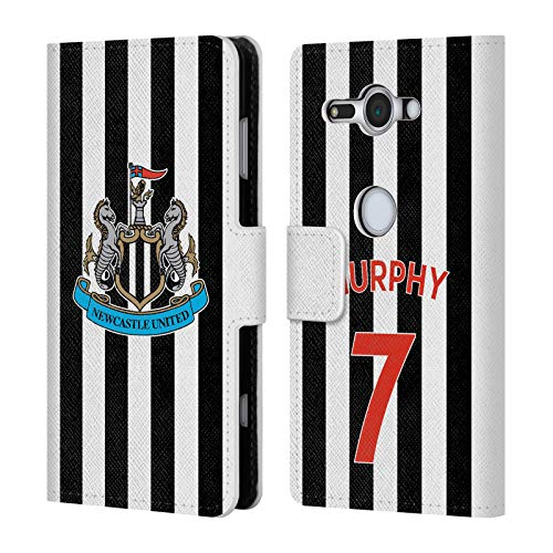 Murphy Compact Wallet (Official Newcastle United FC NUFC Jacob Murphy 2018/19 Players Home Kit Group 1 Leather Book Wallet Case Cover for Sony Xperia XZ2 Compact)
