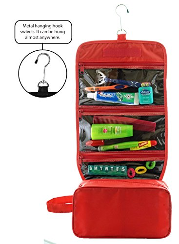 677c99a64a7d We Analyzed 6,092 Reviews To Find THE BEST Hanging Toiletry Bag Red